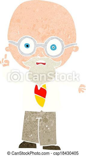 cartoon professor - csp18430405