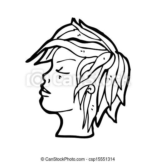 cartoon profile face