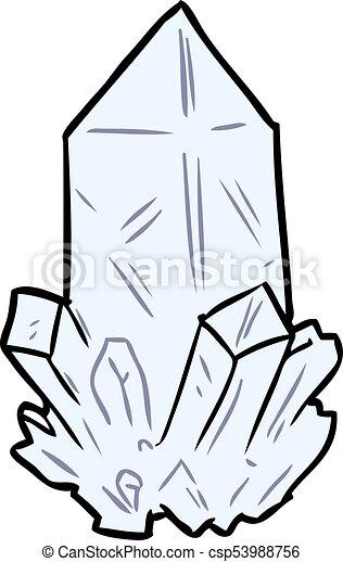 Cartoon quartz crystal. Quartz Clipart