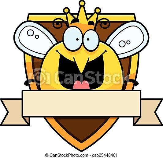 cartoon queen bee badge an illustration of a cartoon queen clip rh canstockphoto com clipart queen crown clipart queen bee