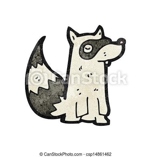 cartoon raccoon - csp14861462