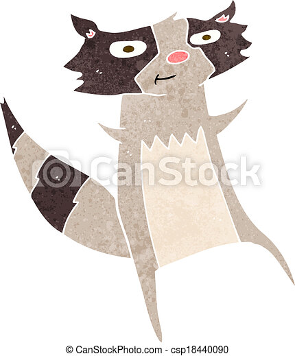 cartoon raccoon - csp18440090