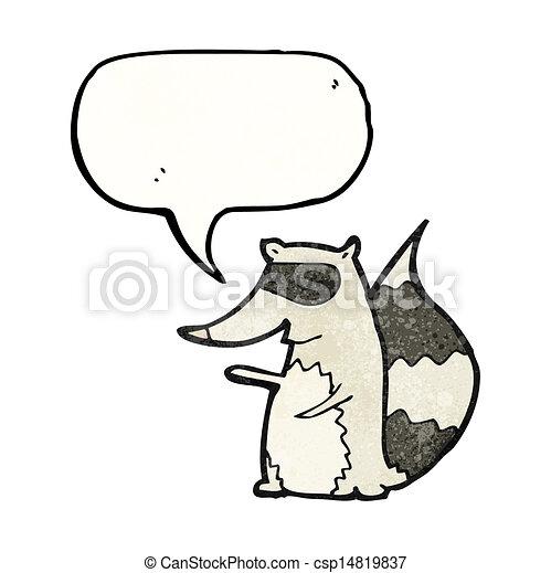 cartoon raccoon - csp14819837