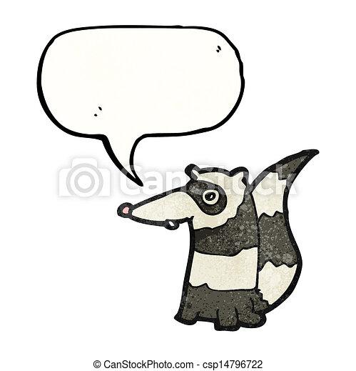 cartoon raccoon - csp14796722