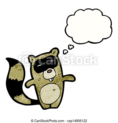 cartoon raccoon - csp14806122