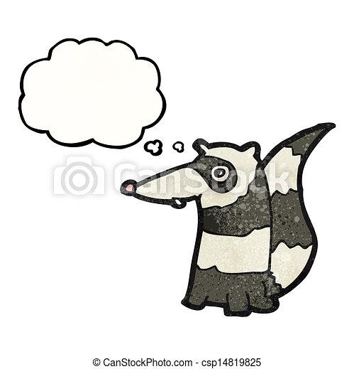 cartoon raccoon - csp14819825