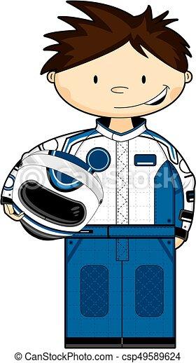 cartoon racing car driver cute cartoon motor racing