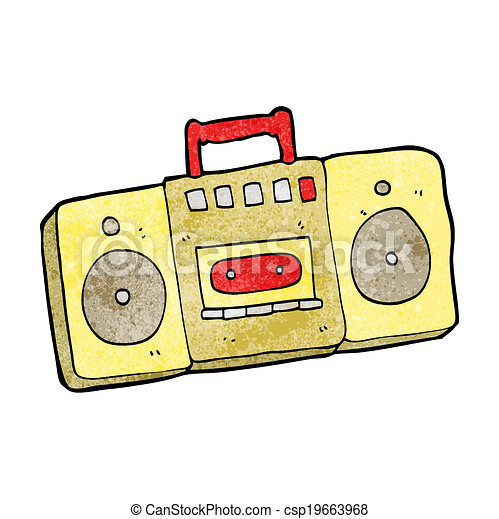 cartoon radio cassette player clip art vector search drawings and rh canstockphoto com