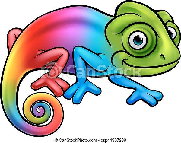 cartoon rainbow chameleon lizard character mascot vectors search rh canstockphoto com chameleon clip art free chameleon clipart png