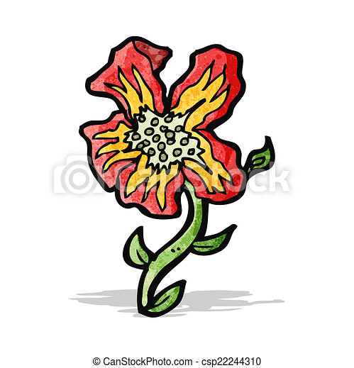 Cartoon Rare Flower Vector Clip Art