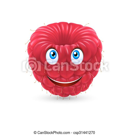 Cartoon raspberry - csp31441270