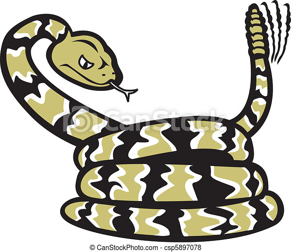 cartoon rattlesnake a cartoon of a coiled rattlesnake vector rh canstockphoto com rattlesnake clipart free rattlesnake clipart vector