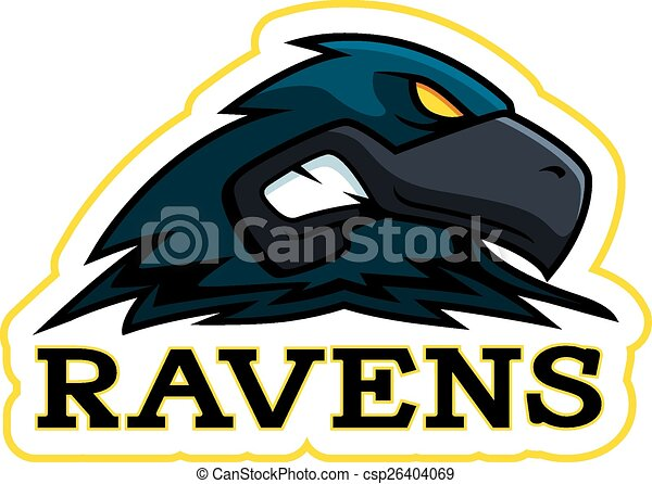 Cartoon Raven Mascot - csp26404069
