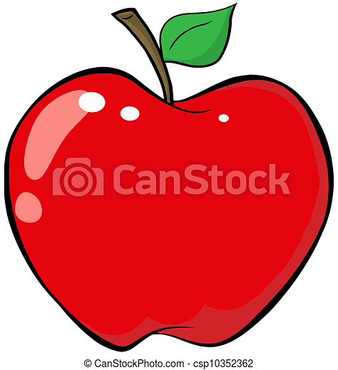 Cartoon Red Apple - csp10352362