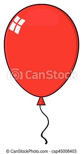 cartoon red balloon illustration isolated on white vector rh canstockphoto com balloon vector icon balloon vector art free