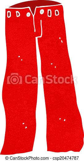 Cartoon red pants.