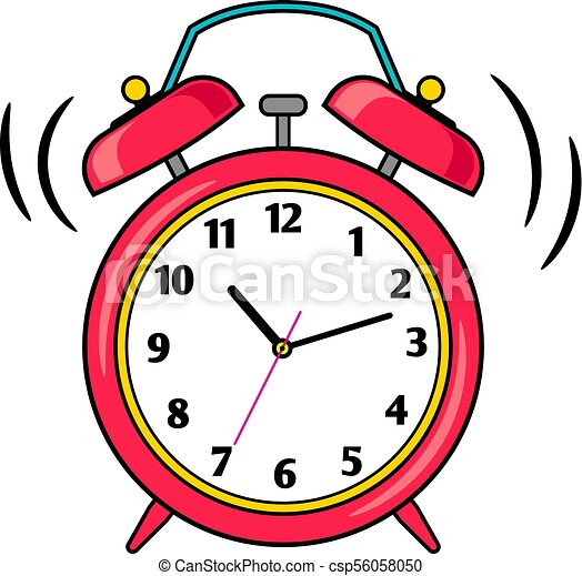 cartoon red ringing alarm clock alarm clock cartoon red clipart rh canstockphoto com  free clipart alarm clock ringing