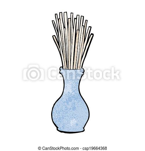 cartoon reeds in vase - csp19664368
