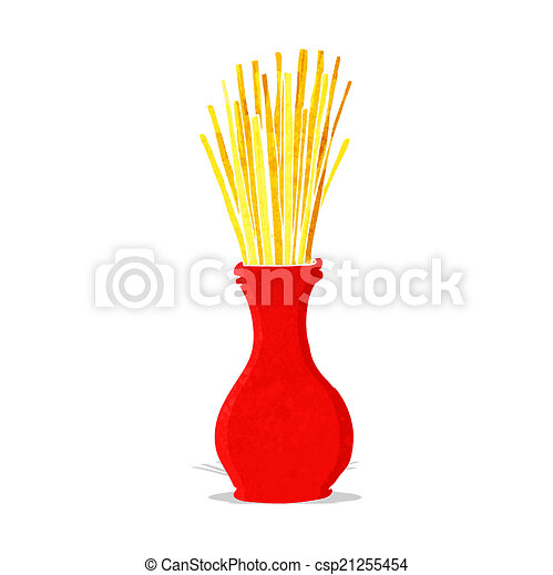 cartoon reeds in vase - csp21255454
