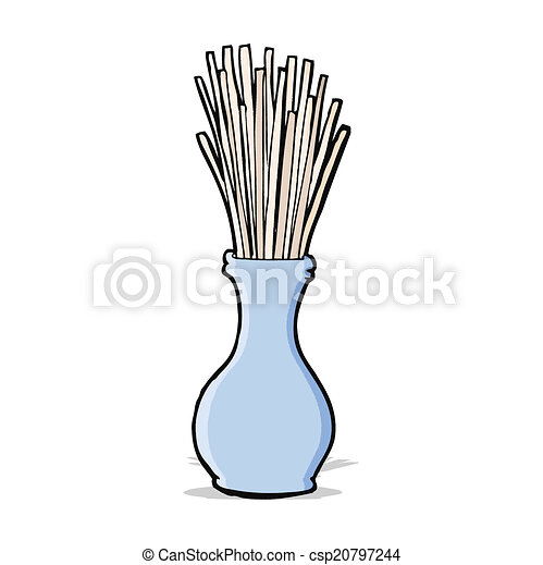 cartoon reeds in vase - csp20797244