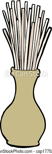 cartoon reeds in vase - csp17752426