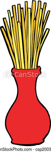 cartoon reeds in vase - csp20037029