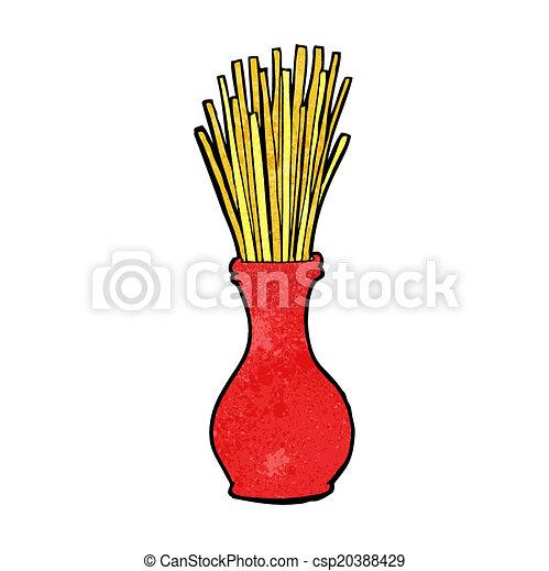 cartoon reeds in vase - csp20388429