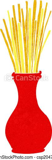 cartoon reeds in vase - csp20478671
