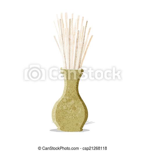 cartoon reeds in vase - csp21268118