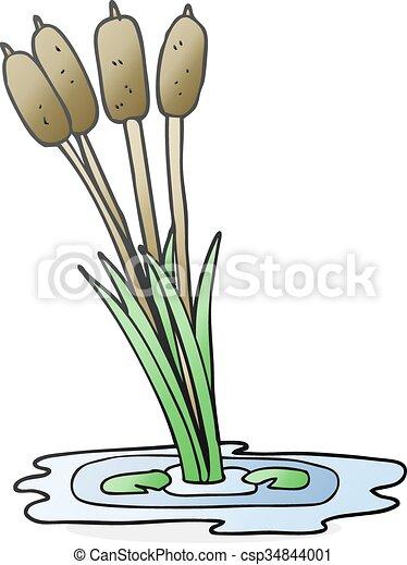 cartoon reeds - csp34844001