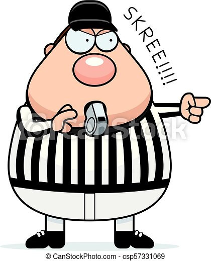 cartoon referee whistle a cartoon illustration of a referee clip rh canstockphoto com