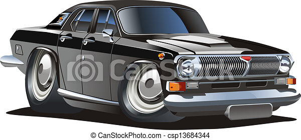 Cartoon retro car - csp13684344