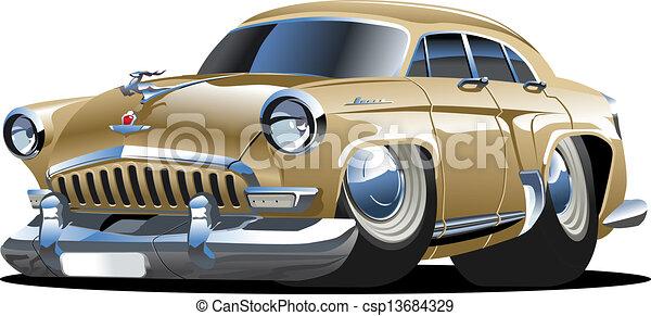 Cartoon retro car - csp13684329