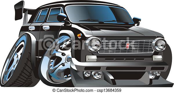 Cartoon retro hot rod - csp13684359