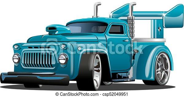 Cartoon retro hot rod - csp52049951