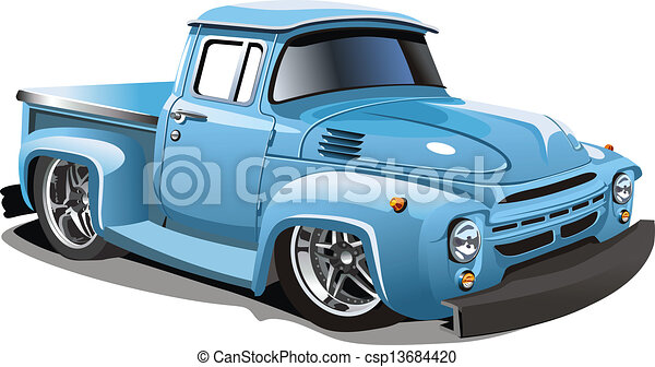 Cartoon retro hot rod - csp13684420