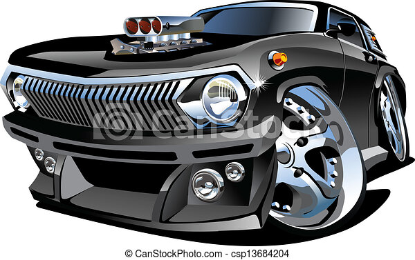 Cartoon retro hot rod - csp13684204