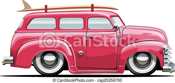 Cartoon retro van - csp25359700