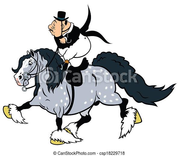 Cartoon Rider Fat Riding Heavy Horsecartoon Picture