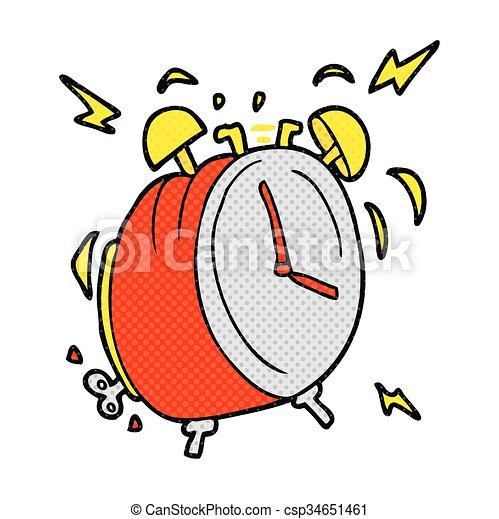 freehand drawn cartoon ringing alarm clock clip art vector search rh canstockphoto com clipart alarm bell clipart alarm bell