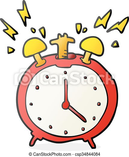 freehand drawn cartoon ringing alarm clock vector search clip art rh canstockphoto com