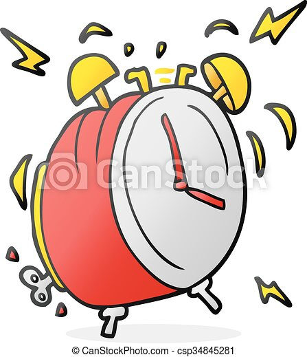 freehand drawn cartoon ringing alarm clock vector search clip art rh canstockphoto com alarm clock ringing clipart