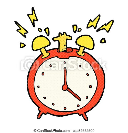 freehand drawn cartoon ringing alarm clock vector clipart search rh canstockphoto com
