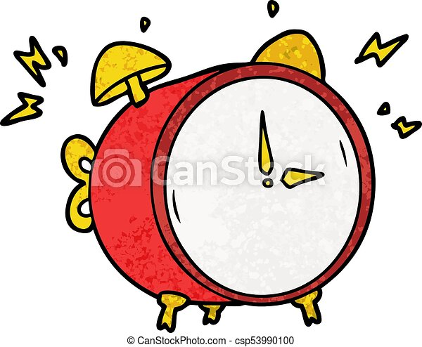 cartoon ringing alarm clock vector clipart search illustration rh canstockphoto com  free clipart alarm clock ringing