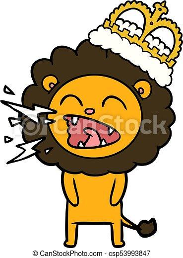 cartoon roaring lion eps vector search clip art illustration rh canstockphoto co uk roaring lion face clipart roaring lion face clipart