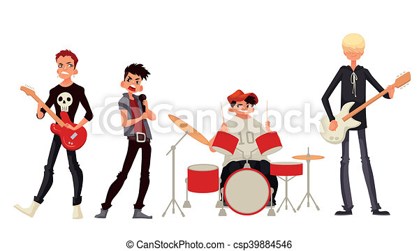 cartoon rock group musicians illustration rock band cartoon rh canstockphoto com rock band clipart black and white punk rock band clipart