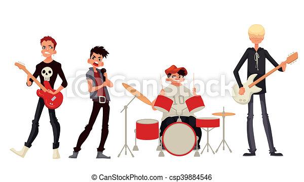 cartoon rock group musicians illustration rock band cartoon rh canstockphoto com kiss rock band clipart rock band clipart free