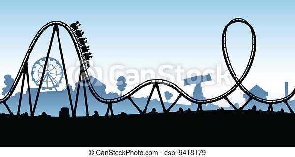 Cartoon Rollercoaster - csp19418179