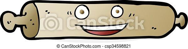 cartoon rolling pin - csp34598821