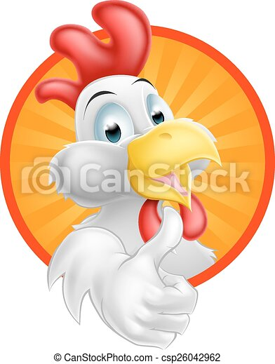 Cartoon Rooster - csp26042962